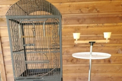 ($30) Wrought Iron Parrot Cage and Stand