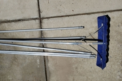 ($15) Snow Roof Rake with extension handles