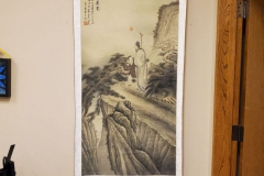 ($35) Hand Painted Wall hanging - Chinese scroll