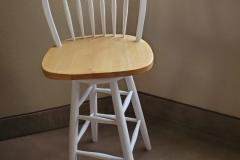 "($10) Swivel ""bar"" stool with back"